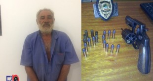 Francisco Dias da Silva 65 anos conhecido como Lorito, preso por homicídio doloso