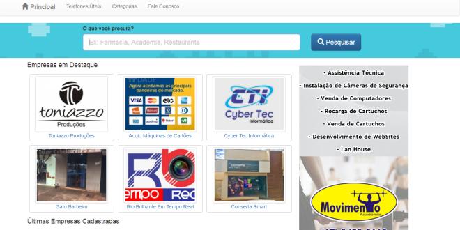0a0a6cf71 Rio Brilhante tem guia comercial que ajuda você a encontrar empresas e  serviços pela internet